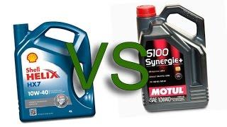 Shell Helix HX7 10w40 vs Motul 6100 Synergie+ 10w40 test