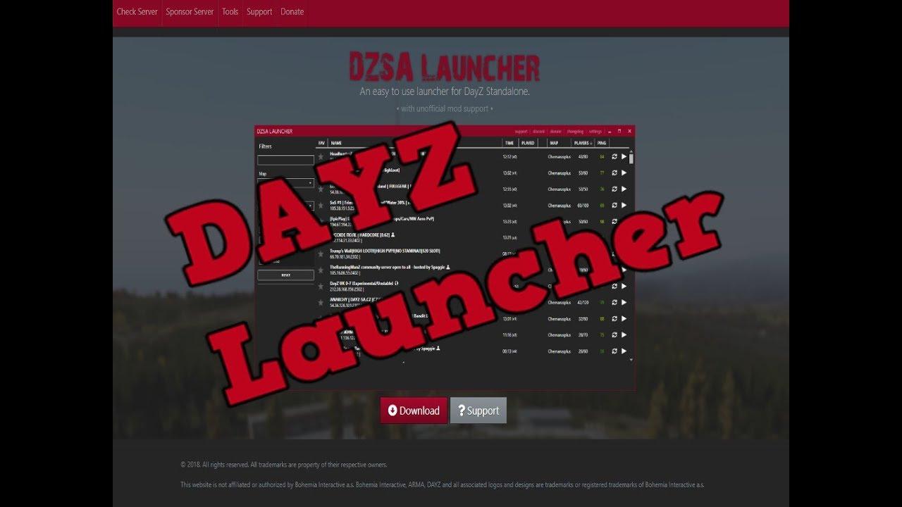 DZSA DayZ Mod Launcher - YouTube  DZSA DayZ Mod L...