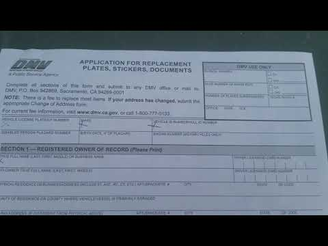 How To Get A Replacement Registration Card