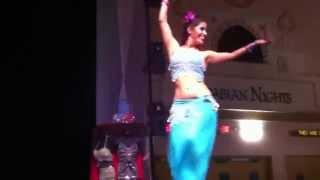 Ilia Belly Dances to Original Music at Arabian Nights