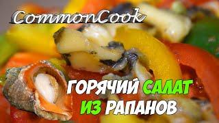 Салат из рапанов. Тёплый и вкусный! Черноморские рапаны.