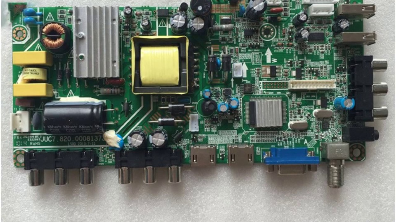 40 65 changhong original motherboard juc7 820 00081373 used disassemble [ 1280 x 720 Pixel ]