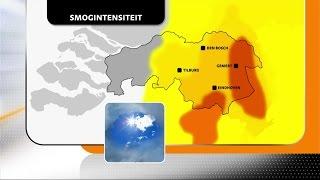 Cindy de Koning in gesprek met verslaggever Theo Verbruggen over smog