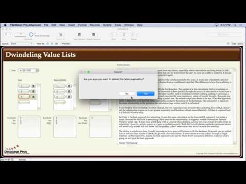 Dwindling Value Lists in FileMaker