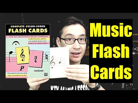 Amazon Flashcards Review - Complete Color Coded Flash Cards for All Beginning Music Students