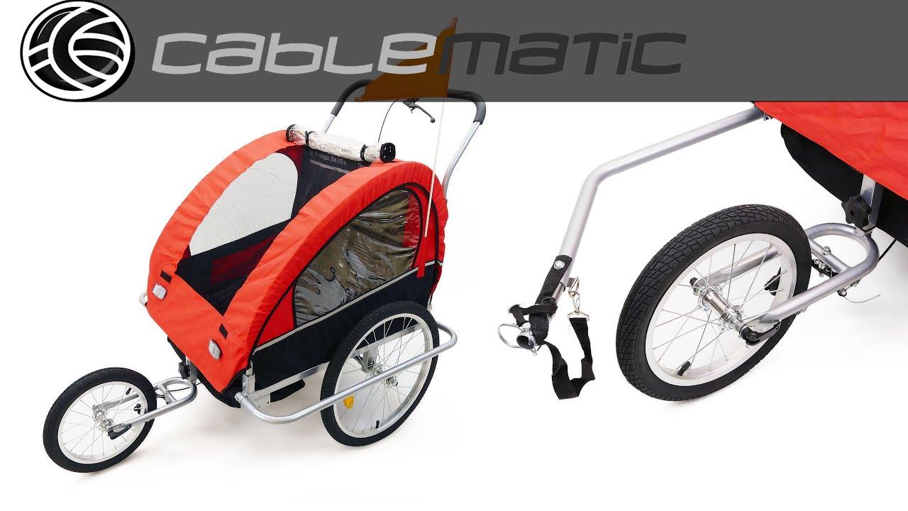 Remolque de bicicleta para transportar 2 ni os doble for Carros para transportar
