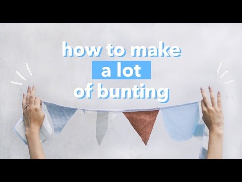 How to make a lot of bunting/banner (fastest diy) | WITHWENDY
