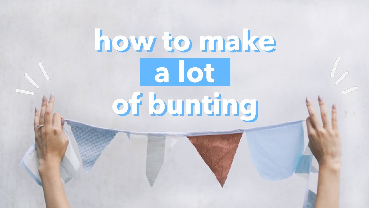 How To Make A Lot Of Bunting Banner Fastest Diy Withwendy