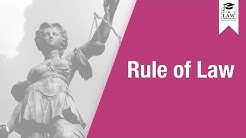 Constitutional Law - Rule of Law