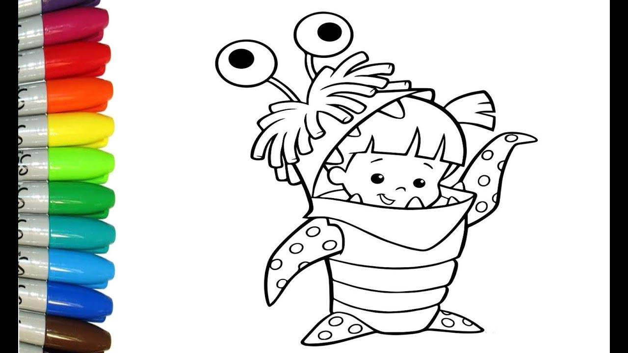 Como Dibujar y Pintar a la bebe Boo de Monsters Inc - YouTube