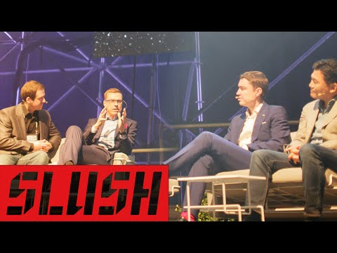 PM Alexander Stubb, Hiroshi Mikitani and PM Taavi Roivas at Slush 2014