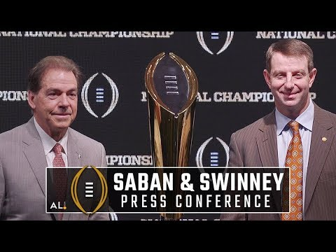 Nick Saban, Dabo Swinney hold final press conference before Alabama-Clemson national championship