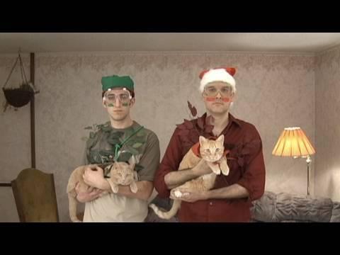 Christmas Laser Beam Cats