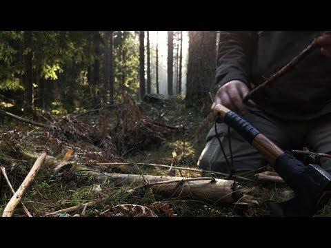 Winter Wild Camping Bushcraft Trip - Wild Boar Territory - Canvas Tent - Fastfold Stove Camp Fire