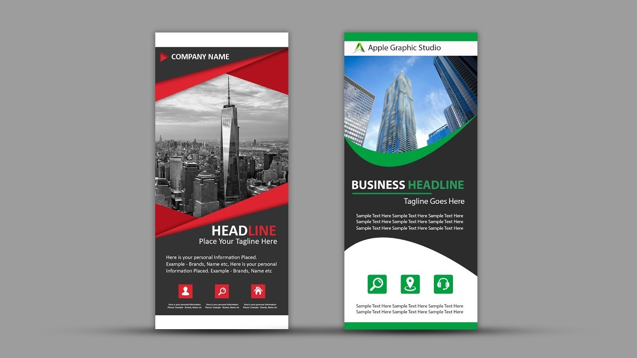 How To Design Roll Up Banner For Business Photoshop