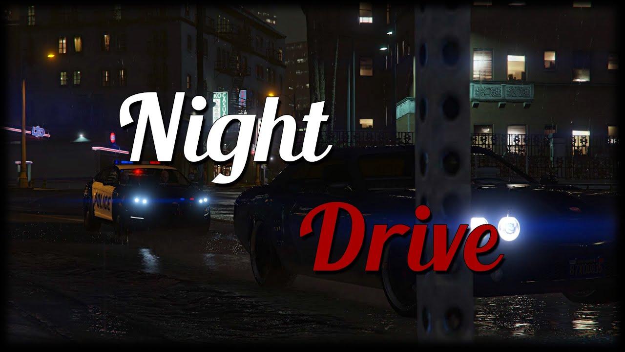 Rainy Night Drive | GTA V Machinima HD/60Fps