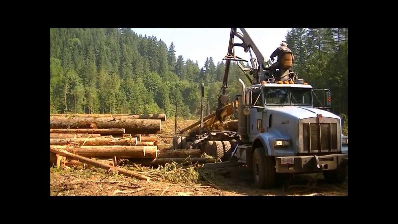 Mack Truck For Sale >> Self Loader Log truck - YouTube