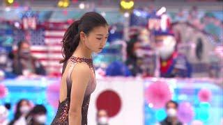 Каори Сакамото Короткая программа Женщины Командный чемпионат мира по фигурному катанию 2021