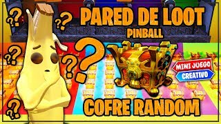 PARED DEL LOOT *PINBALL COFRE RANDON*  (FORTNITE MINIJUEGOS)