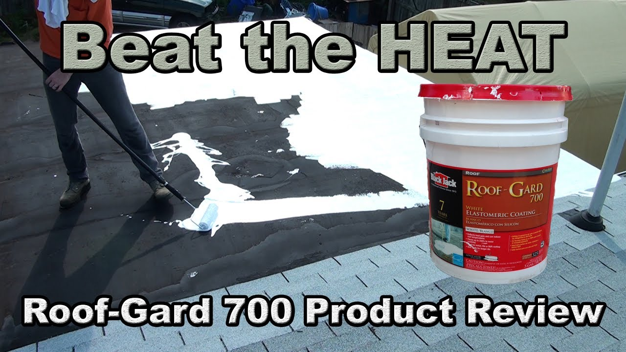Roof Gard 700 elastometric coating review and application 5g bucket
