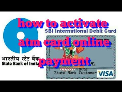 how to activate atm card online payment