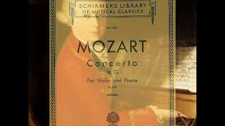Mozart Violin Concerto No 3 in G major, K 216 2mv piano accompaniment