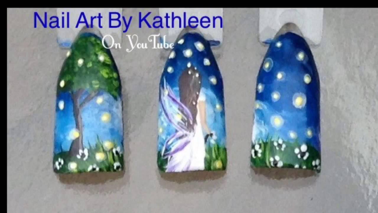 Fireflies Nail Art Design Tutorial Inspired By Shawna Erback
