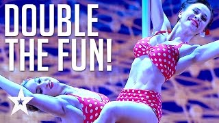 POLE DANCING DUO Mesmerize The Got Talent Judges | Got Talent Global