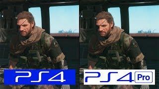 Metal Gear Solid V | PS4 VS PS4 Pro | Pro Patch Comparison | Comparativa