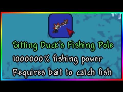 Giving Myself 1000000% Fishing Power In Terraria