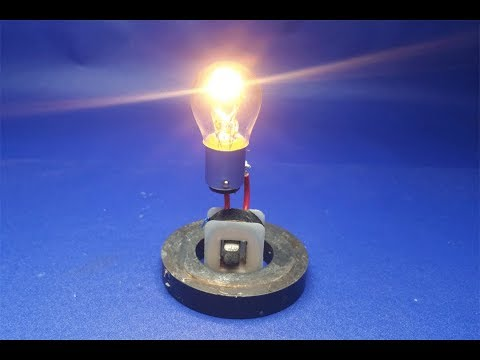 how to make free energy generator light bulb|science projects
