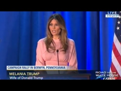 Melania Trump Gives First Speech Since Republican National Convention At Rally In Pennsylvania