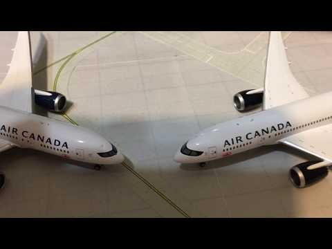 Comparison of the Phoenix and Gemini Jets Air Canada 787-8 New Livery