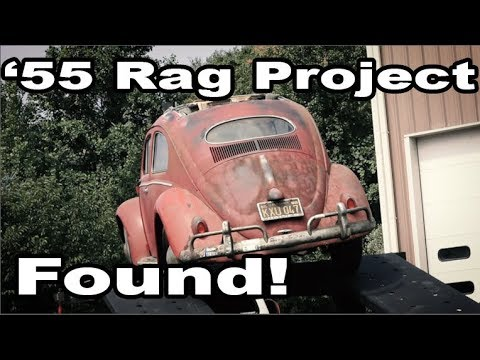 Classic VW BuGs 1955 Ragtop Beetle Sunroof Oval Project FOUND!