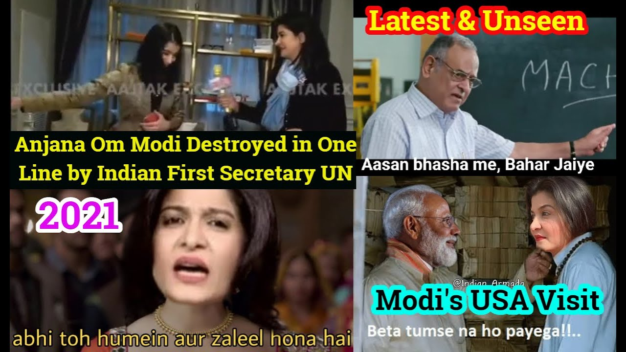 Download Godi Media Anjana Om Kashyap Insulted/ Destroyed and Full Roasted By Indian Officer of United Nation