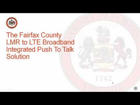 Fairfax County LMR to LTE Integration