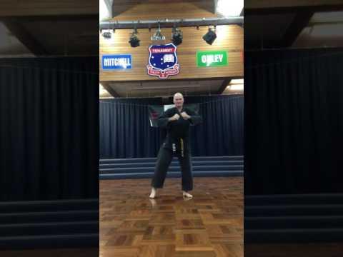 Darren Owens Self Defence Taekwondo White Belt Pattern