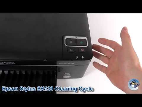 Epson Stylus SX130: How to do Printhead Cleaning Cycles
