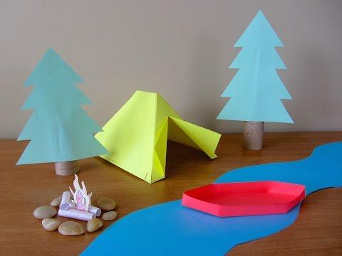 3D Paper Campsite