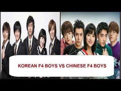 Korean F4 Boys Vs Chinese F4 Boys