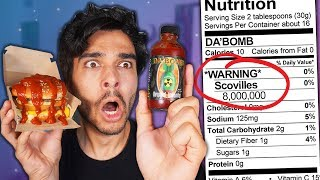 Putting Hot Sauce on EVERYTHING I Eat for 24 HOURS! (IMPOSSIBLE FOOD CHALLENGE)