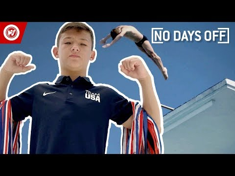 14 Year Old Does INSANE Diving Tricks | No Days Off