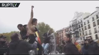 'Stop 20N': Topless FEMEN activists interrupt pro-Franco rally in Spain (EXPLICIT)