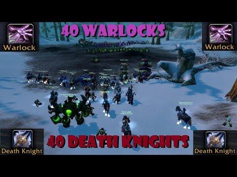 40 Death Knights VS 40 Warlocks