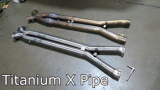 Corvette ZR1 Titanium X pipe and exhaust tips