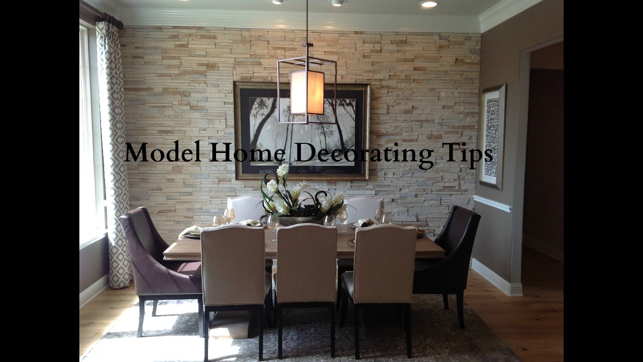 Model Home Decorating Tips - YouTube