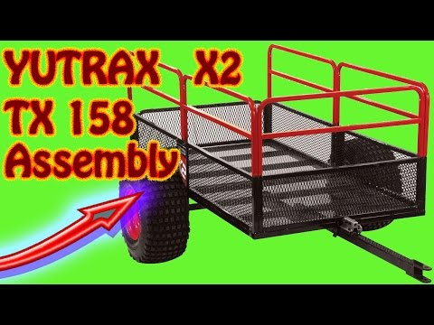 How to Assemble a YUTRAX TX158 X2 ATV Utility Trailer YUTRAX Utility Dump Cart Assembly Instructions