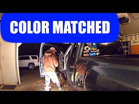 Color Matching The Tow Mirrors And Door Handles On The Truck
