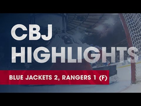 Blue Jackets 2, Rangers 1 | Matiss Kivlenieks Earns First NHL Win In Debut, Bjorkstrand Scores Twice