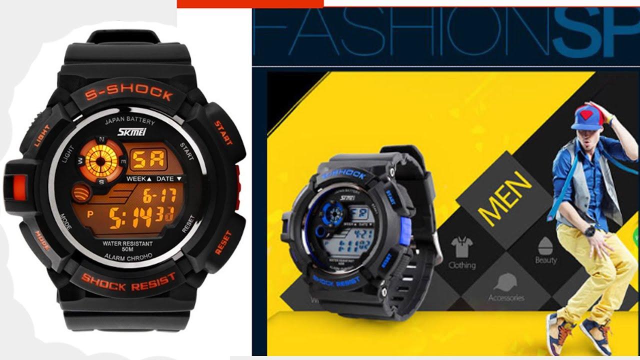 e9c351e5148 Relógio esportivo SKMEI alta qualidade - YouTube